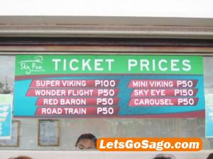 sky ranch prices
