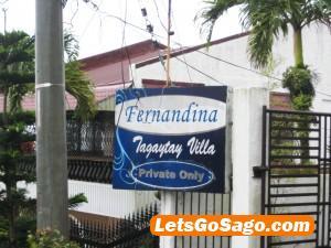Fernandina Tagaytay Villa